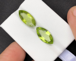 6.95 Ct Untreated Green Color Peridot ~LOT