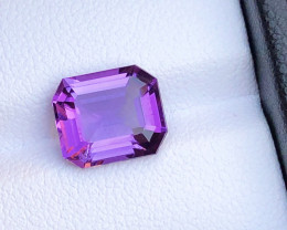 Top Grade 2.70ct Fancy Natural Color Amethyst Ring Size