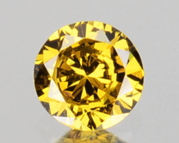 0.06 Cts Natural Untreated Diamond Fancy Yellow 2.5mm Round Cut Africa