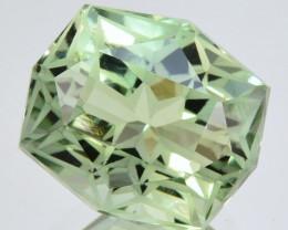 ~CUSTOM CUT~ 9.00 Cts Natural Prasiolite / Amethyst Fancy Cushion Brazil