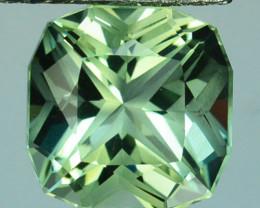~CUSTOM CUT~ 3.62 Cts Natural Green Prasiolite/Amethyst Cushion Fancy Brazi