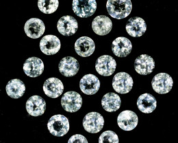 ~UNHEATED~ 9.45 Cts Natural Sparkling 5mm White Topaz Round Parcel Brazil