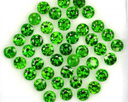 1.06 Cts Natural Vivid Green Tsavorite Garnet Round Cut 2.00mm Parcel