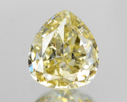 *No Reserve* Diamond 0.16 Cts Untreated Natural Fancy Light Yellow Color Lo