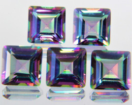 *No Reserve* 6.58 Cts Paired Fancy Rainbow Colors Natural Mystic Topaz