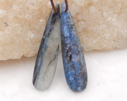28cts blue kyanite earrings ,natural kyanite earrings ,healing stone D1204