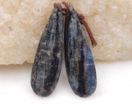 32cts blue kyanite earrings ,natural kyanite earrings ,healing stone D1209