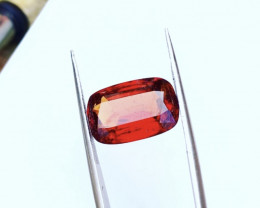 7.50 Carats Natural Hessonite Garnet Cut Stone from Afghanistan