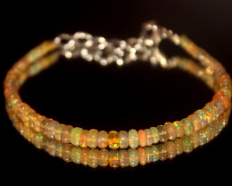 16.50 Crts Natural Ethiopian Welo Opal Beads Bracelet 14