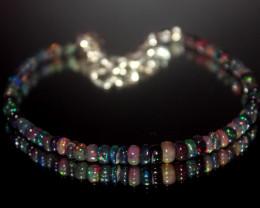 13.65 Crt Natural Ethiopian Welo Smoked Opal Bracelet 23