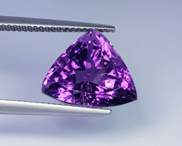 7.96 ct  Top Quality Gem  Triangle Cut Natural Purple Amethyst