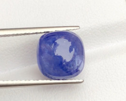 AAA Color 5.15 ct Tanzanite Cab eye catching Color