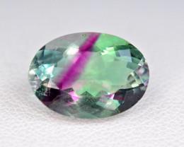 6.80 Carat Bi Fluorite Unusual Rare Color Perfect Cut Gemstone@PAK