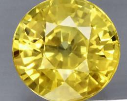 1.67 ct 6.6mm Round Natural Yellow Sapphire, Thailand