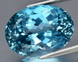 33.03 ct. 100% Natural Earth Mined Top Quality Blue Topaz Brazil