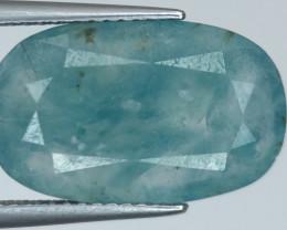 ~No Reserve~6.28 ct Rare Grandidierite Greenish Blue Color Faceted Gem