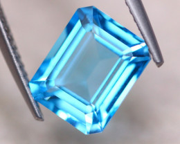 4.32ct Natural Blue Topaz Octagon Cut Lot V8859
