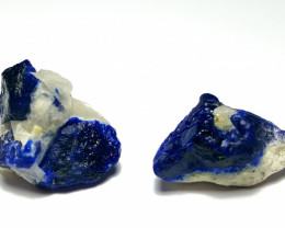 Amazing Natural color 2 piece of Lapis Lazuli Specimen 72Cts-A