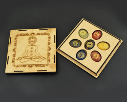 Genuine Seven Chakra Gem Lot With Box - Crystal Healing Gift