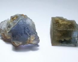 Amazing Natural color Damage free 2 Fluorite Crystals 132Cts-P