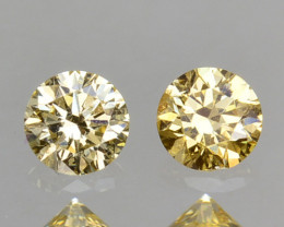 ~UNTREATED~ 0.19 Cts Natural Diamond Golden Yellow Round Cut Africa