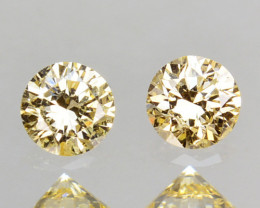 ~UNTREATED~ 0.22 Cts Natural Diamond Golden Yellow Round Cut Africa