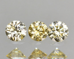 ~UNTREATED~ 0.20 Cts Natural Diamond Golden Yellow Round Cut Africa