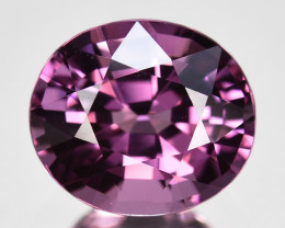 2.13Cts SPECTACULAR NATURAL ULTRA RARE PURPLE SPINEL OVAL BURMESE