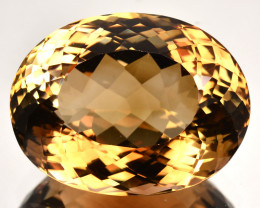 33.55 Cts Natural Imperial Brown Champagne Topaz Oval Faceted Russia Gem