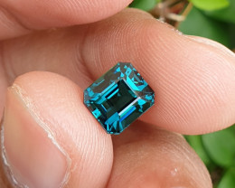 UNTREATED 3.10 CTS NATURAL STUNNING VVS TO IF TOP INDICOLITE BLUE TOURMALIN