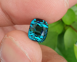 UNTREATED 3.13 CTS NATURAL VVS TO IF TOP QUALITY INDICOLITE BLUE TOURMALINE