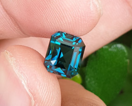 UNTREATED 3.90 CTS NATURAL VVS TO IF TOP QUALITY INDICOLITE BLUE TOURMALINE