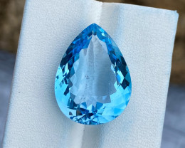 Natural Sky Blue Topaz 19.80 Cts Good Luster