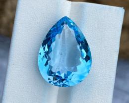 Natural Sky Blue Topaz 19.80 Cts Good Luster