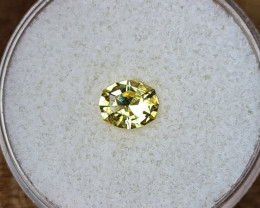 0,80ct Canary yellow Sapphire - Master cut!