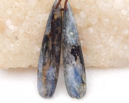 33cts blue kyanite earrings ,natural kyanite earrings ,healing stone D1211