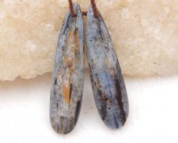 25cts blue kyanite earrings ,natural kyanite earrings ,healing stone D1212