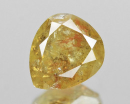*NoReserve*Diamond 0.30 Cts Untreated Fancy Intense Yellow Color Natural