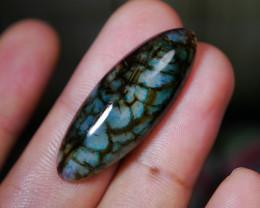 25.65 CT Beautiful Blueish Dragon Skin Chalcedony Agate