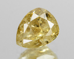 *NoReserve*Diamond 0.29 Cts Untreated Fancy Yellowish Brown Color Natural