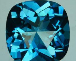 ~CUSTOM CUT~ 5.63 Cts Natural London Blue Topaz Fancy Cushion USA