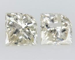 2/0.37 CTS ,  White Natural Diamond  , Fancy Shaped Diamond