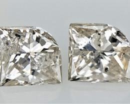 0.38 CTS , Unqiue Modified Princess shaped Diamond , Loose White Diamond