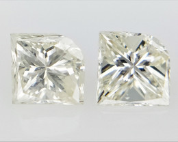 0.44 cts White Natural Diamond , Unique Shaped Diamond
