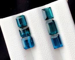 Natural blue green tourmaline gemstones parcel - 5.00 crt