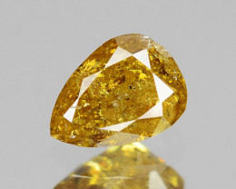 *No Reserve* Diamond 0.14 Cts Untreated Natural Fancy Deep Yellow Brown Dia