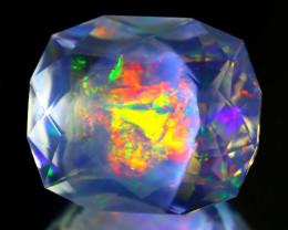 15.32Ct ContraLuz Octagon Cut Mexican Very Rare Species Opal A2216