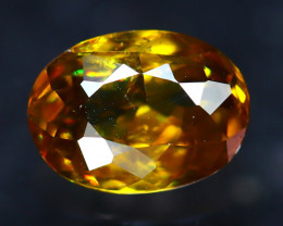 Sphene 1.43Ct Natural Rainbow Flash Green Sphene E2214/A51