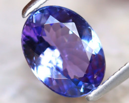 Tanzanite 1.24Ct Natural VVS Purplish Blue Tanzanite E2215/A45