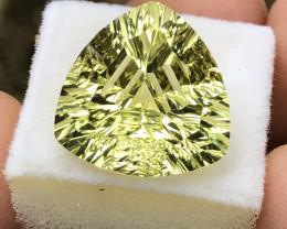 Natural Citrine 12.20 carat Trillion Cut.